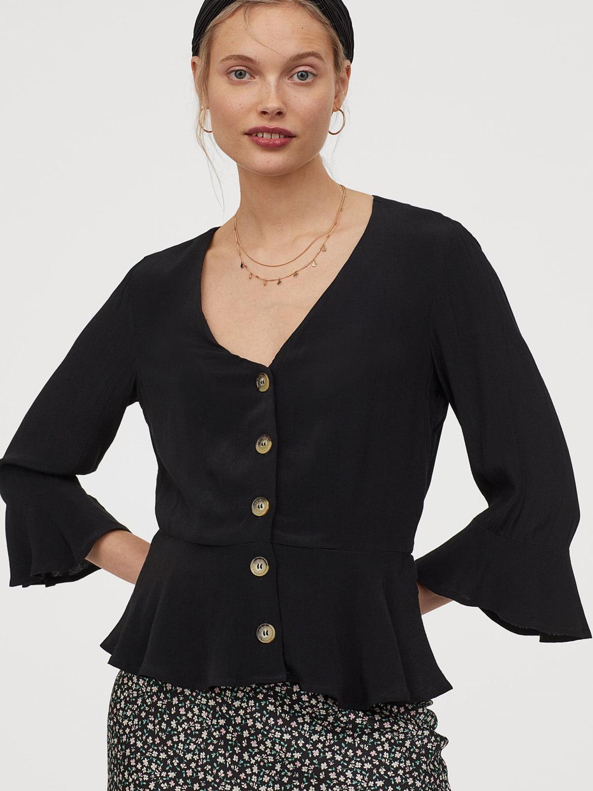 Блуза черная | 5508927