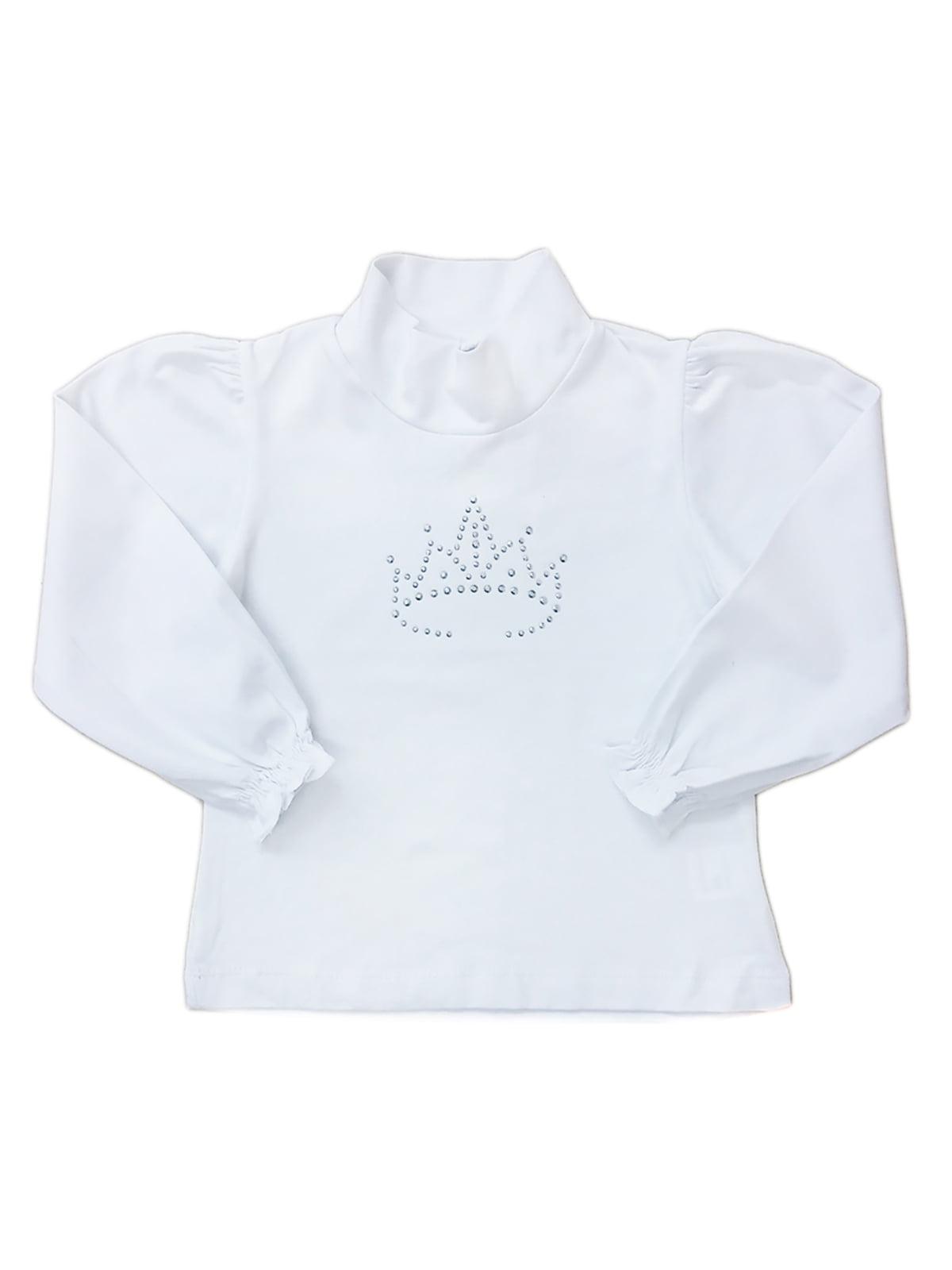 Блуза белая с декором | 5508984