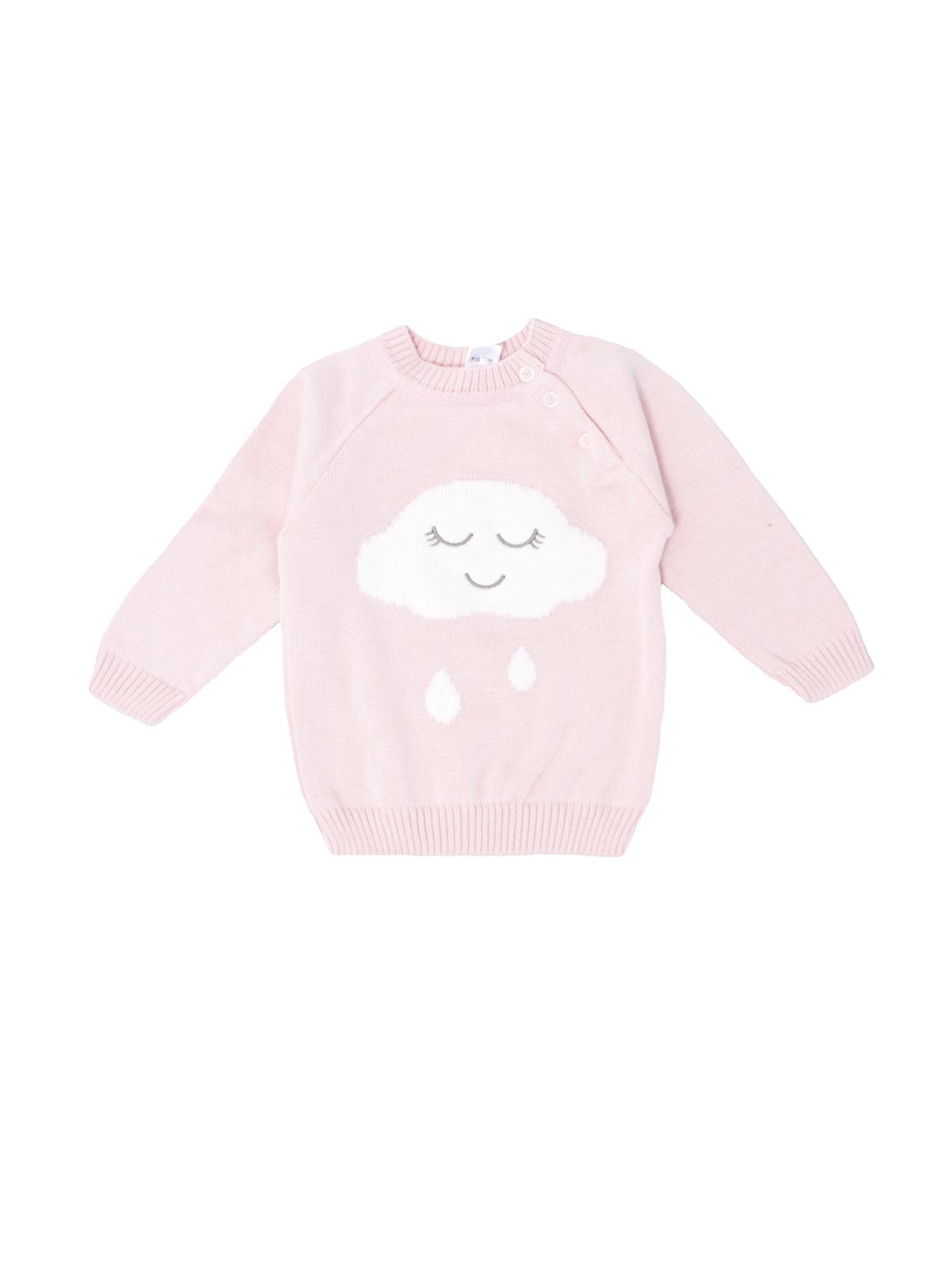 Джемпер рожевий з принтом | 5513844
