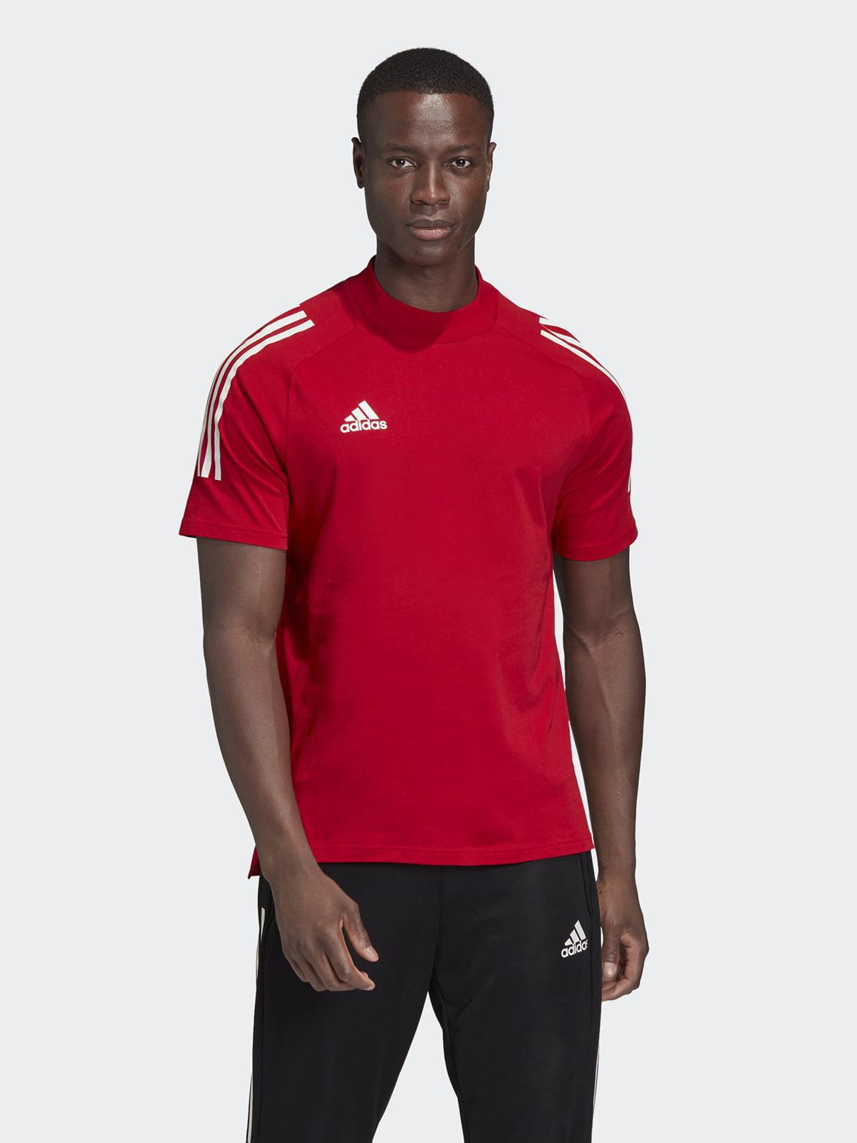 Футболка красного цвета с логотипом   5513723