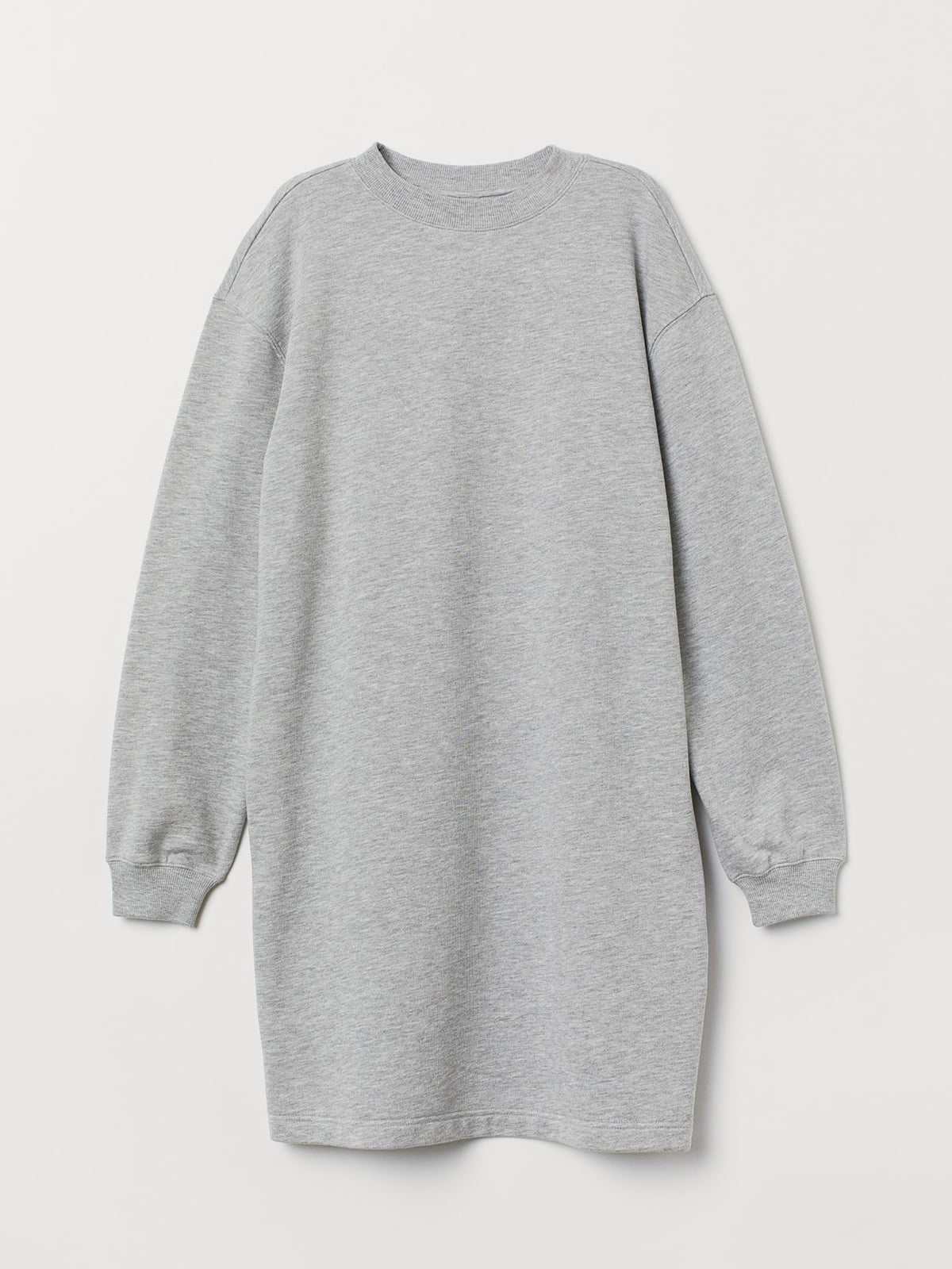 Платье-свитшот серое | 5514022