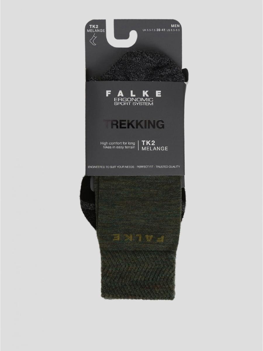 Носки спортивные цвета хаки с логотипом | 5512789