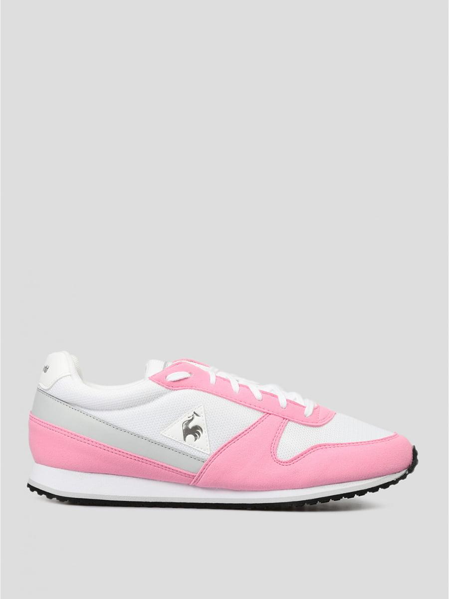 Кроссовки розовые с логотипом | 5512019
