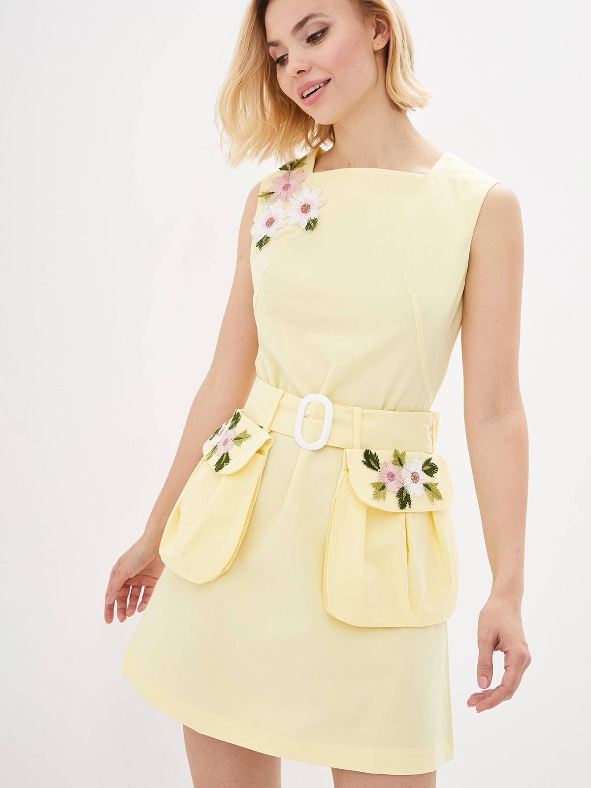 Сукня жовта з вишивкою | 3288664