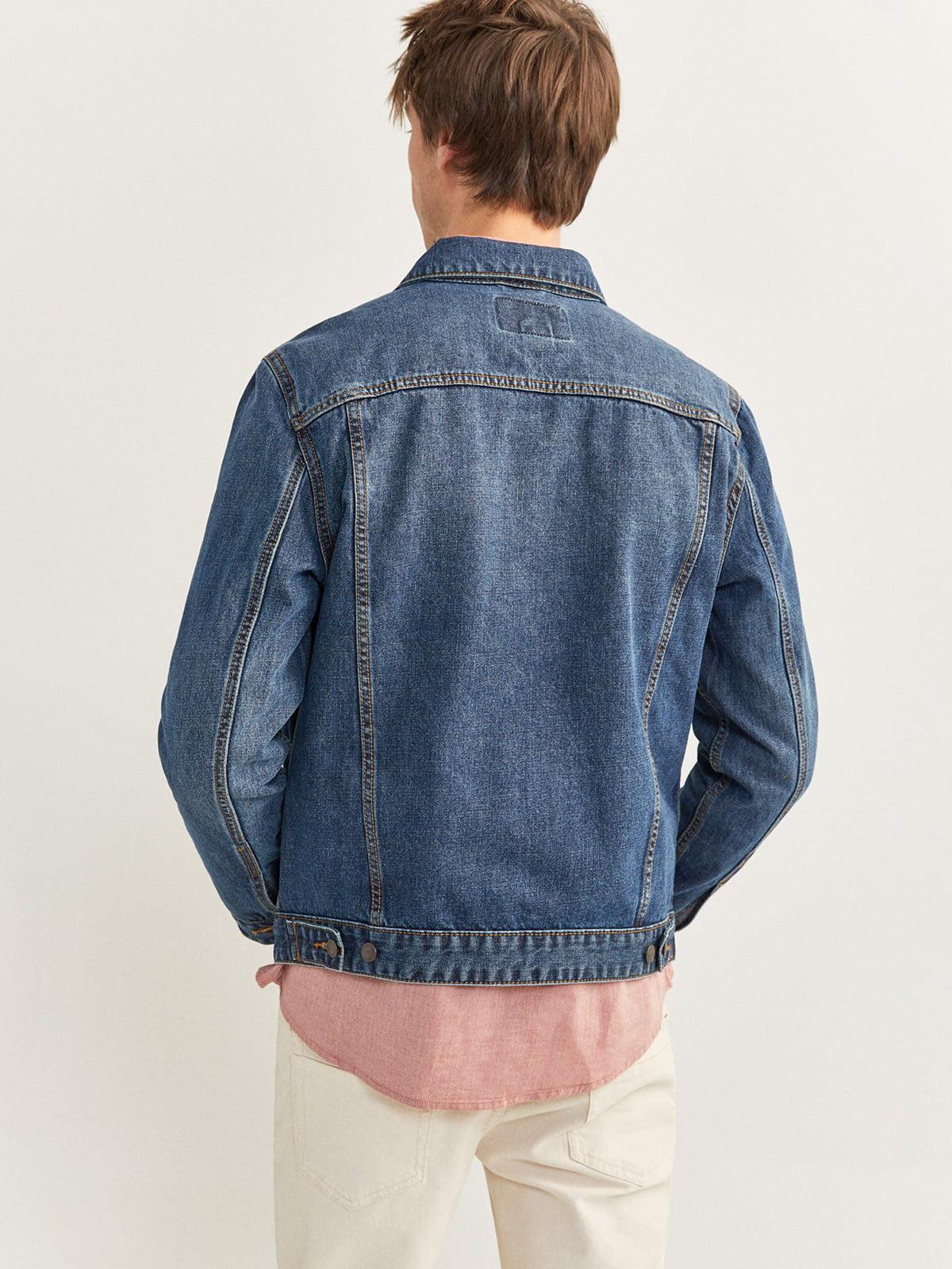 Куртка джинсовая синяя   5515623