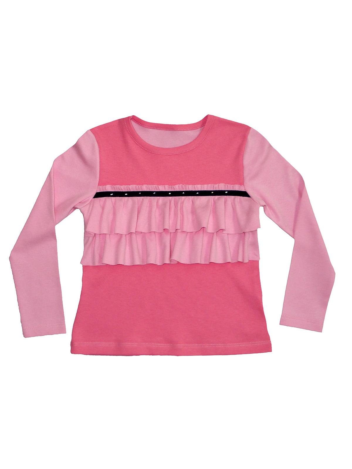 Блуза розовая с декором   5517258