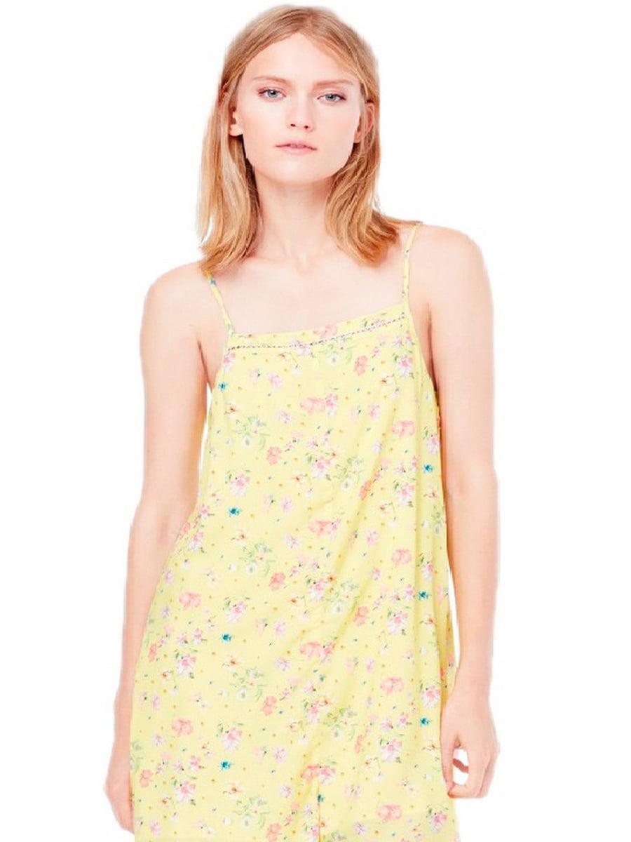 Комбинезон желтый в цветочный принт   5516720