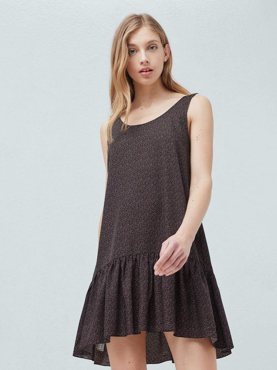 Платье черное в принт | 5516776