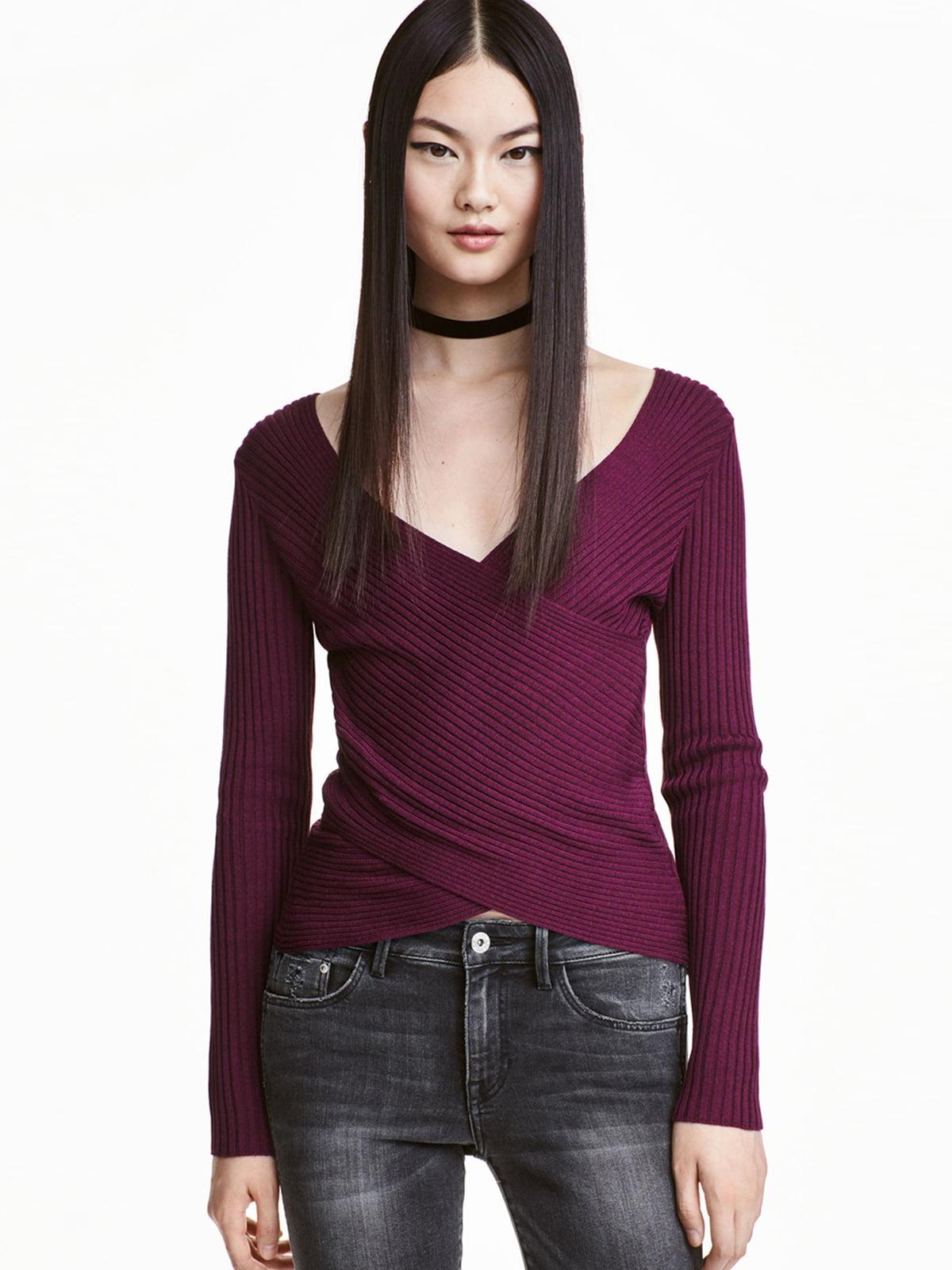 Пуловер бордовый | 5505007