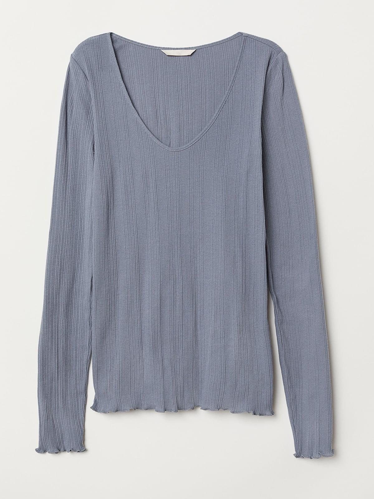 Лонгслив серо-голубой | 5506293