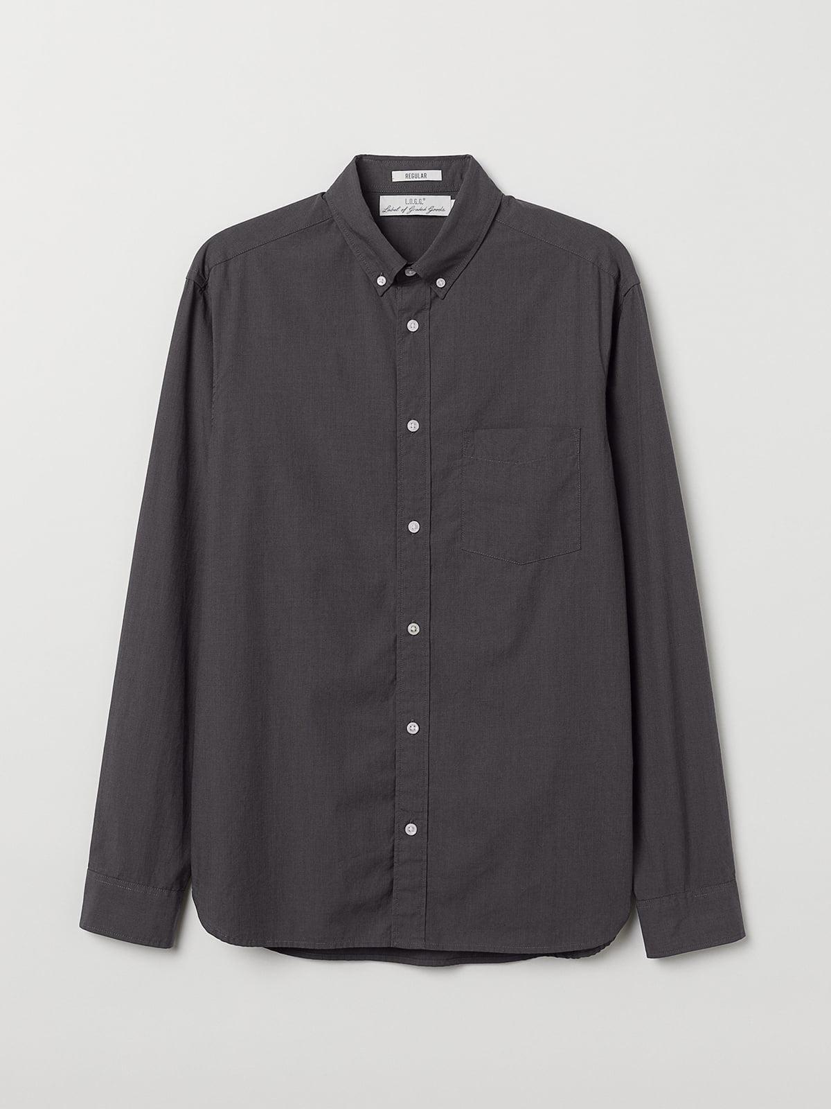 Рубашка темно-серая | 5506405