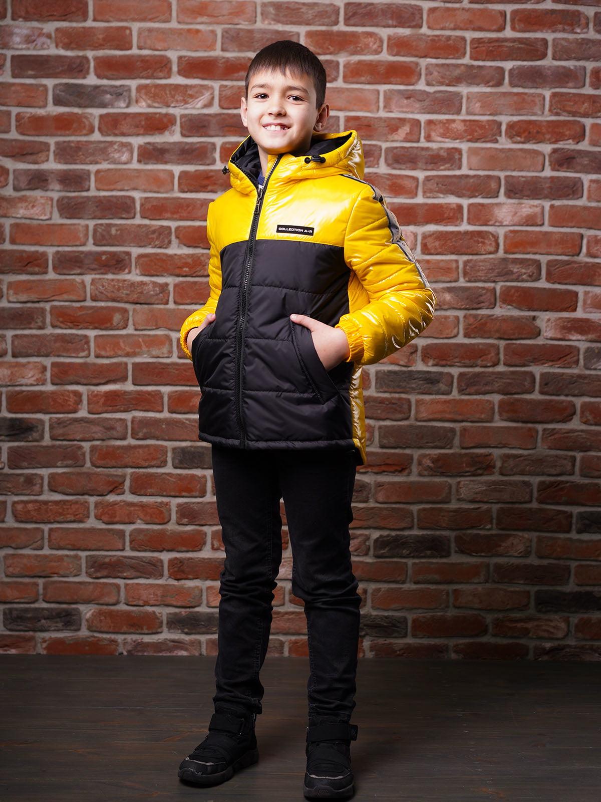 Куртка чорно-жовта   5523484