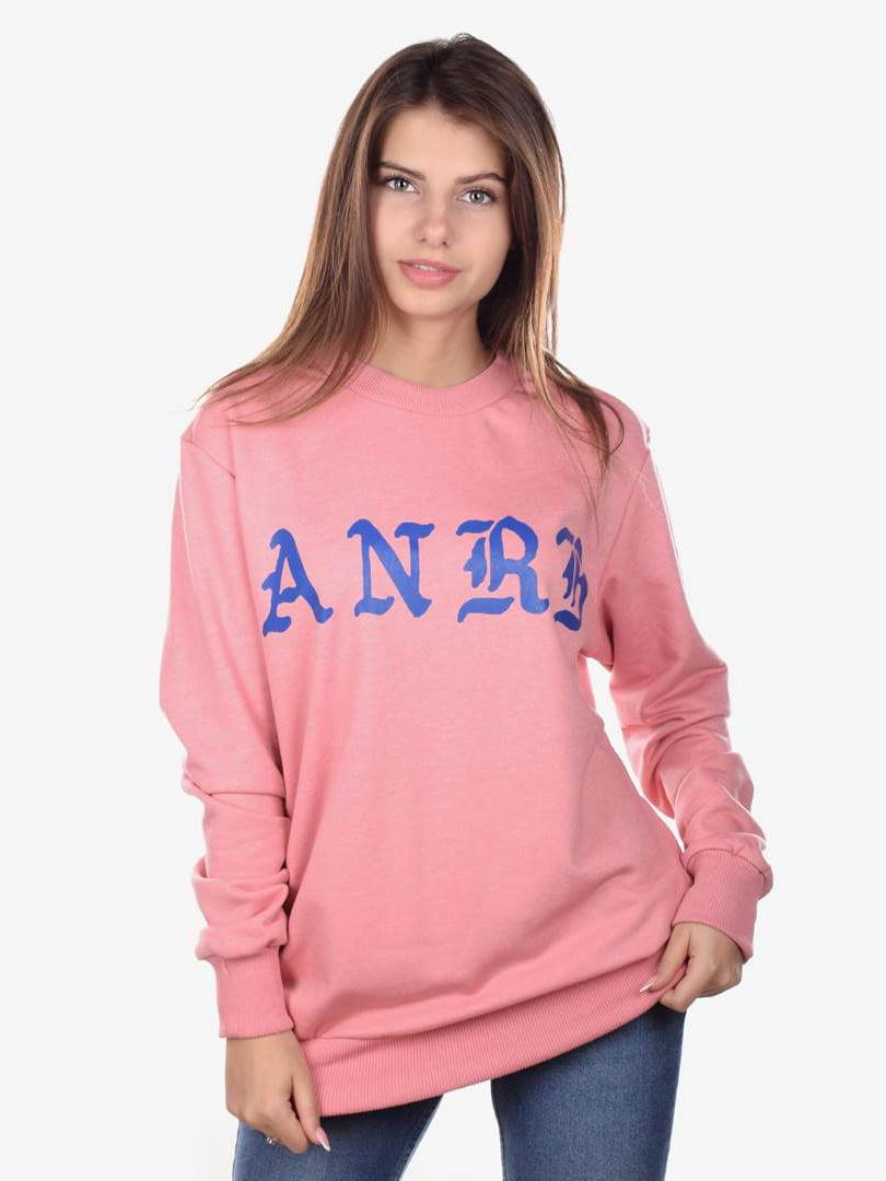 Свитшот розовый с принтом | 5522133