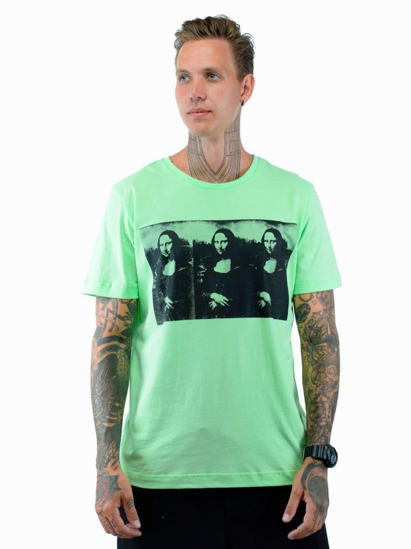 Футболка зеленая с принтом | 5522470