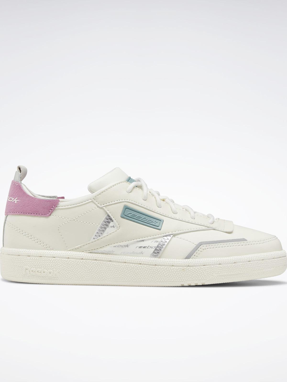 Кроссовки бело-ментолового цвета с логотипом | 5524977