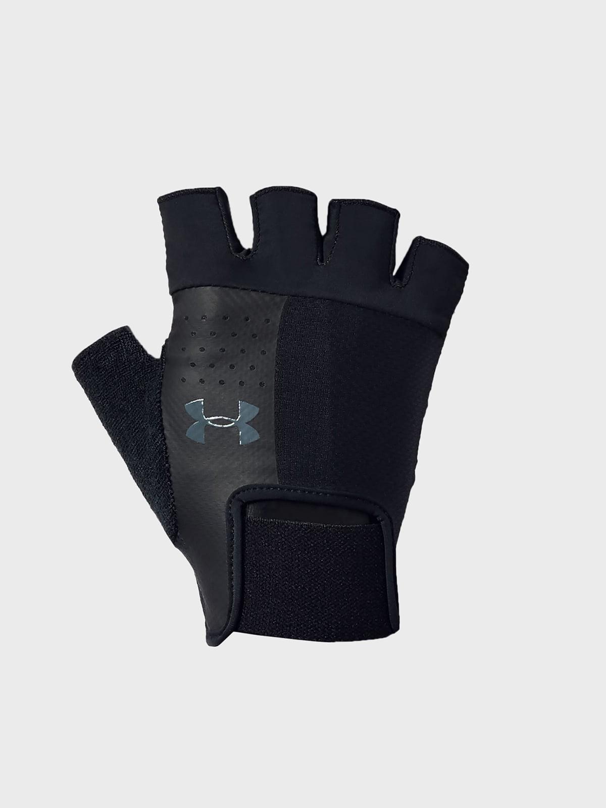 Перчатки черные с логотипом | 5493497