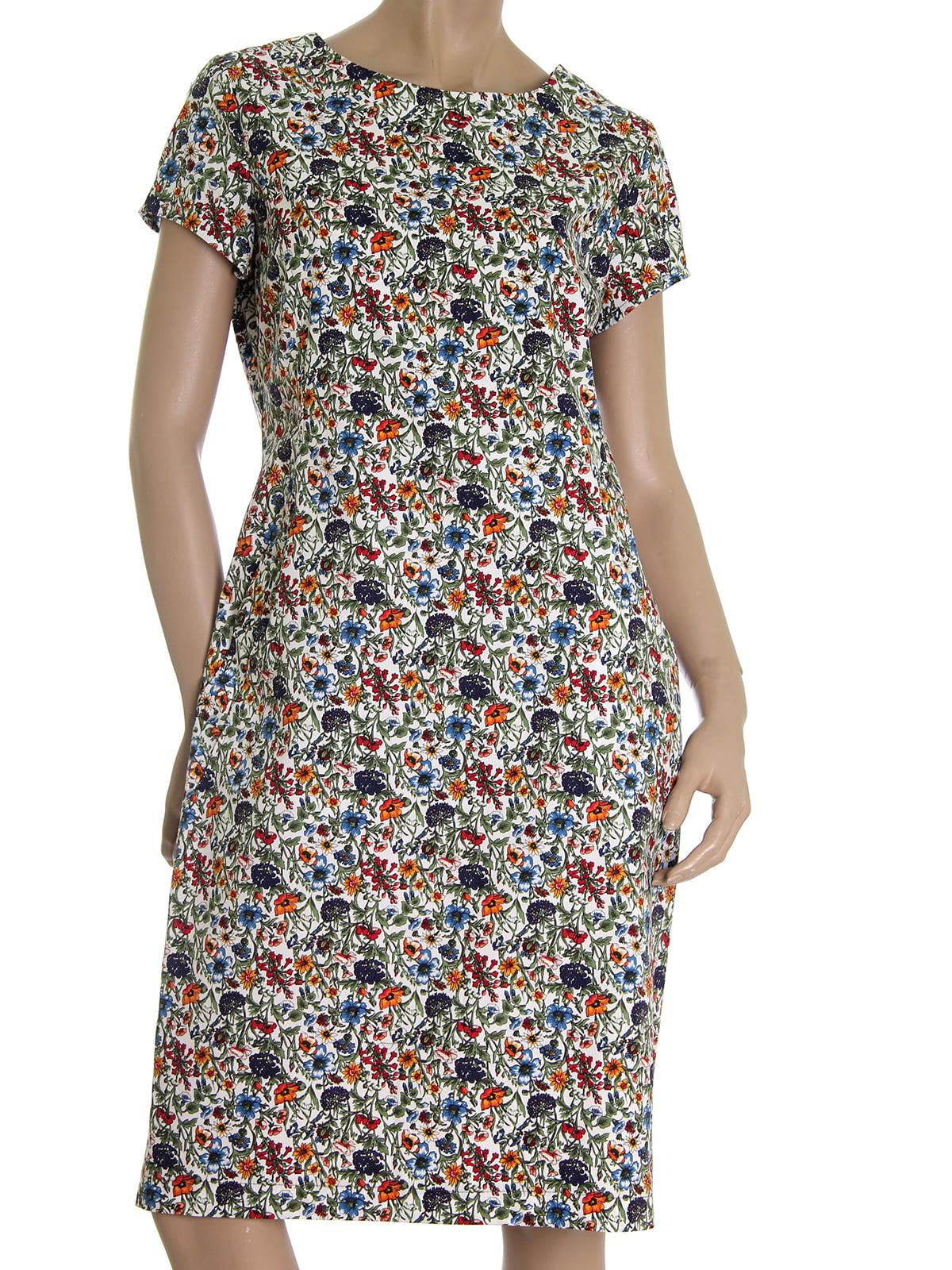 Платье с цветочным принтом | 5525428