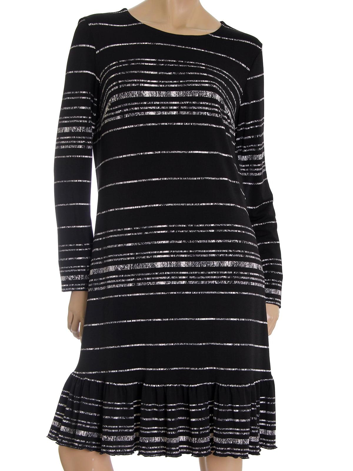 Платье черное в полоску | 5525424
