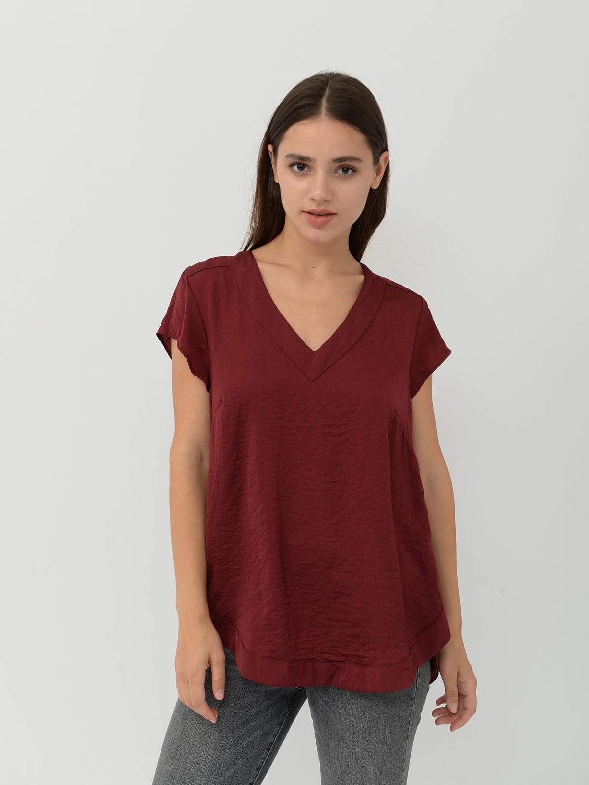 Блуза бордовая | 5515430