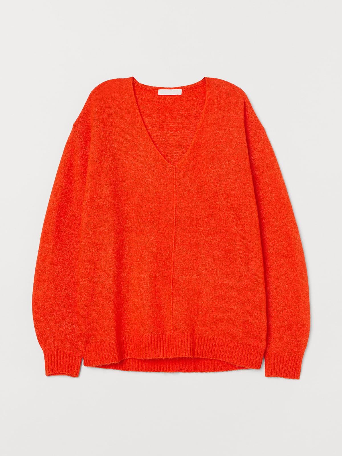 Пуловер оранжевый | 5520150