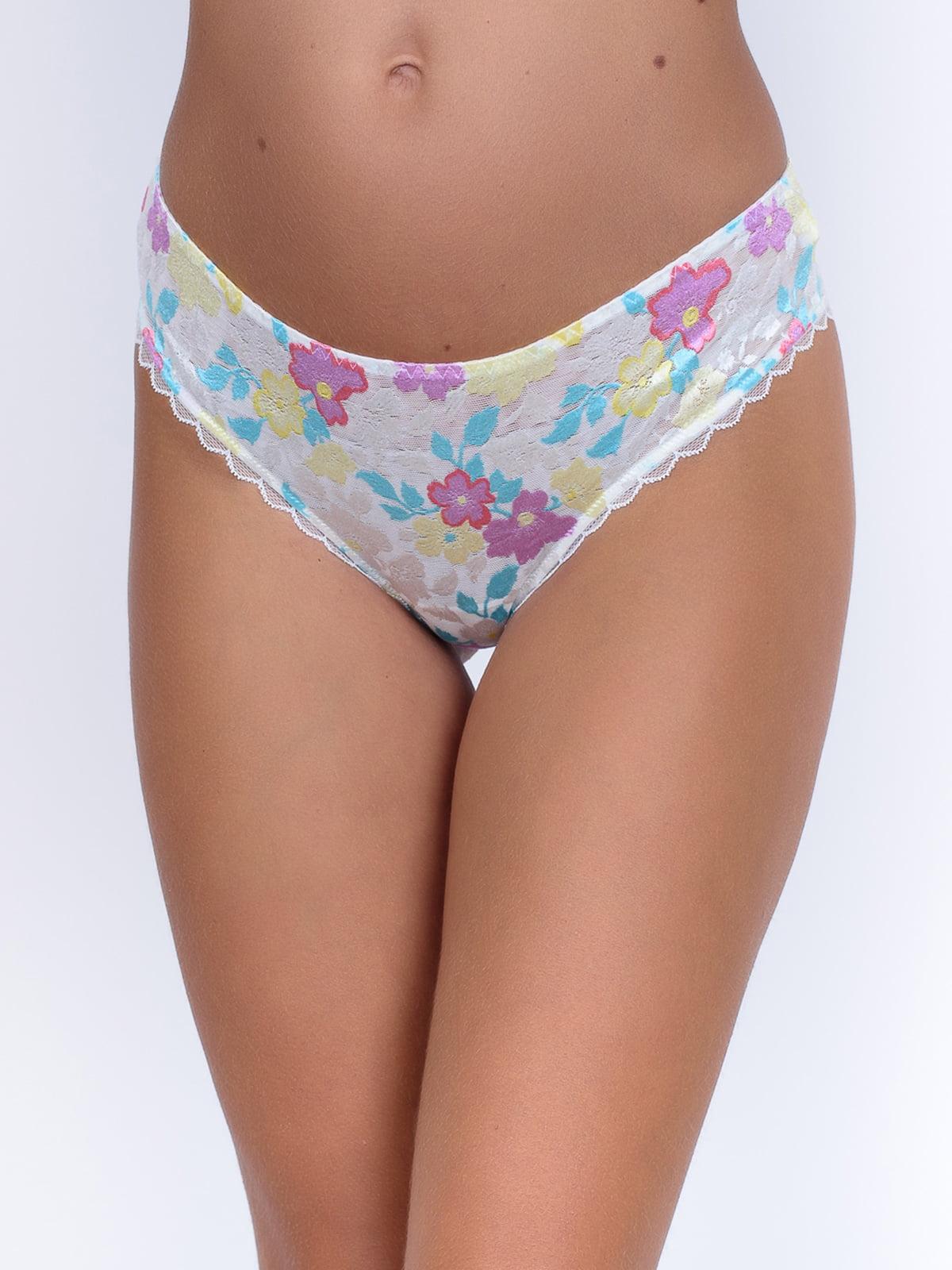 Труси-бразиліани з квітковим візерунком | 5528623