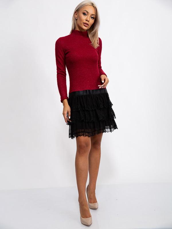 Платье бордовое | 5530642