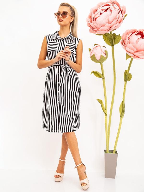Платье черно-белое в полоску   5530712
