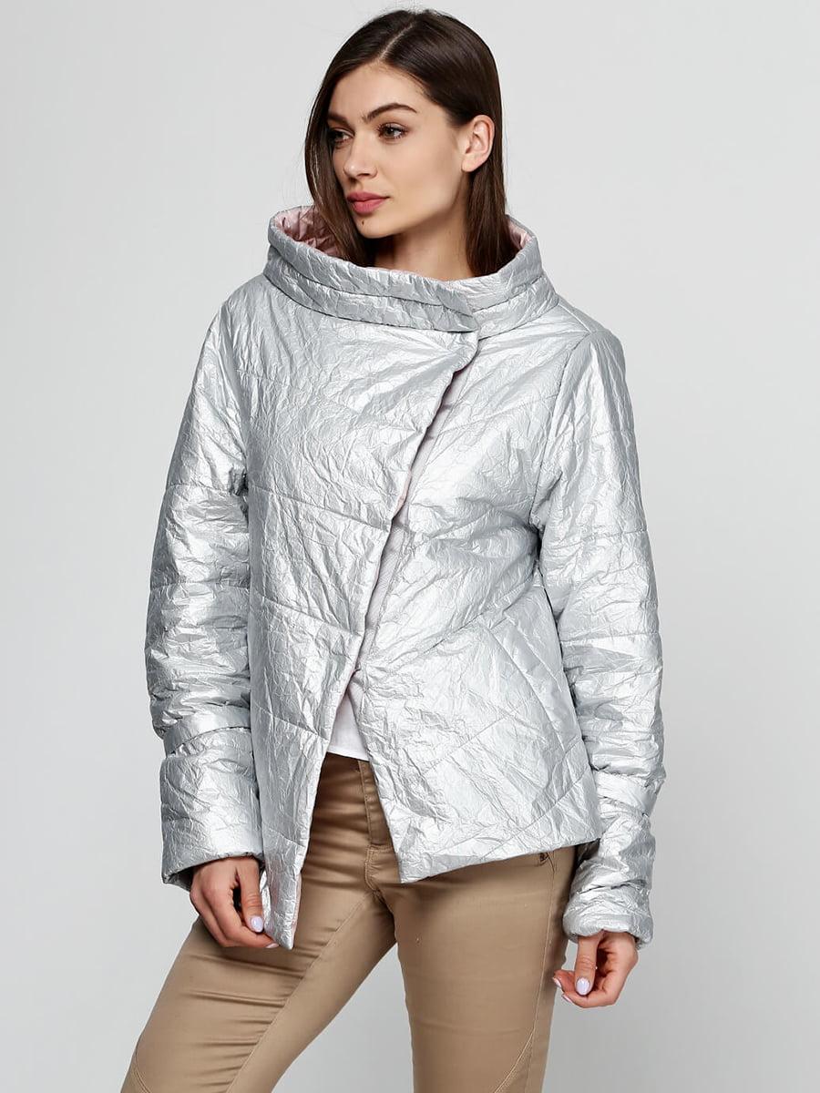 Куртка розово-серебристого цвета | 5531398