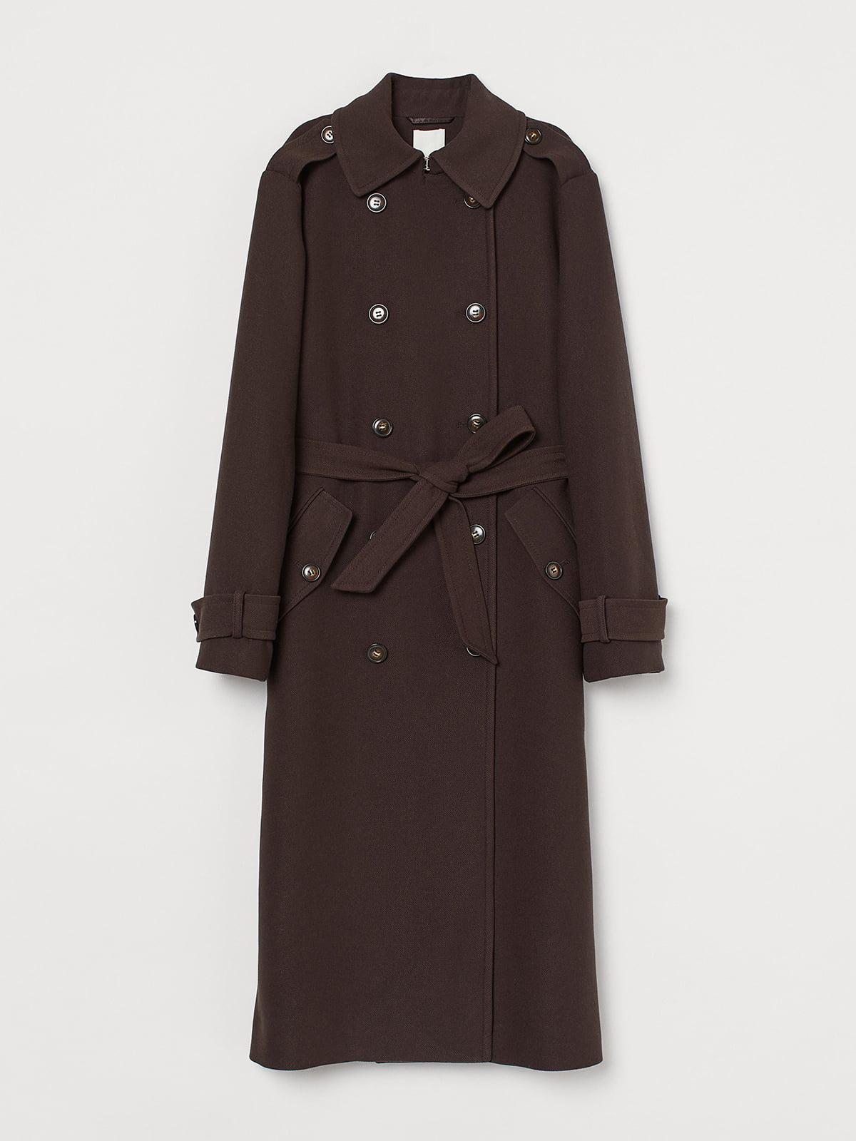 Пальто коричневе | 5519384