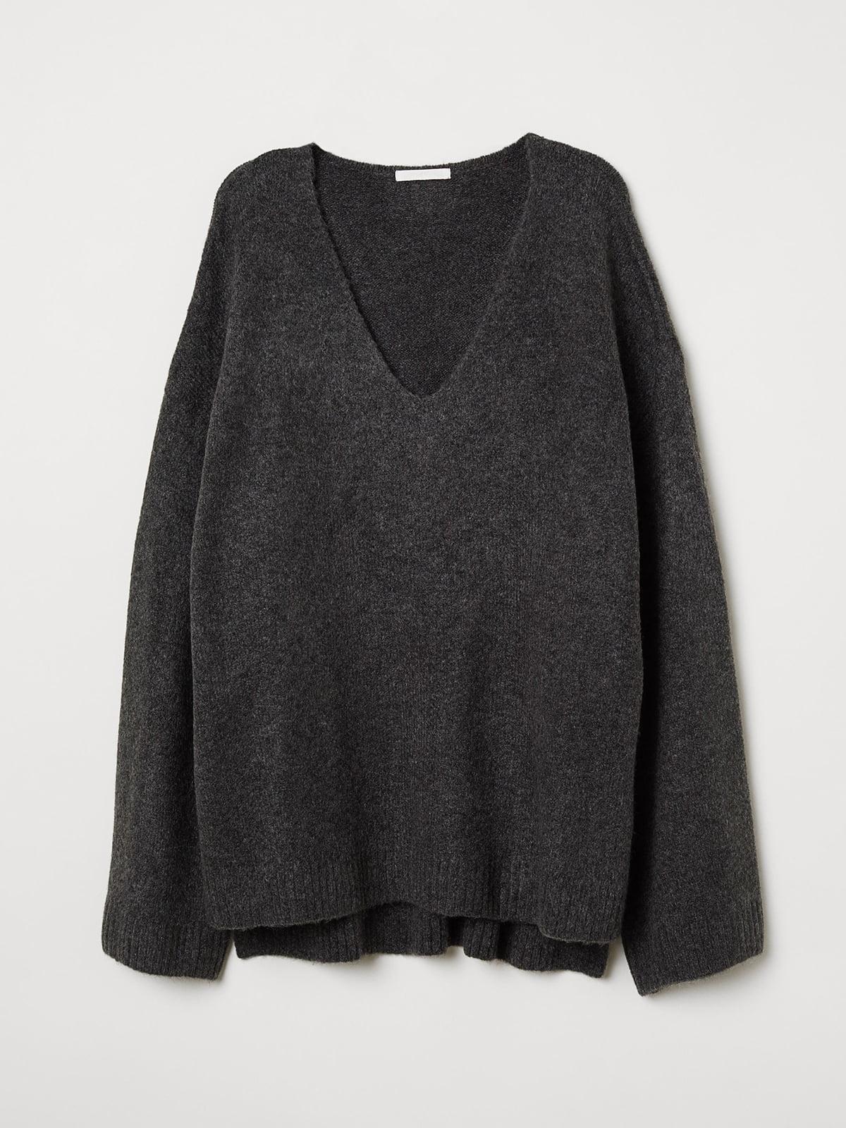 Пуловер серый | 5519446