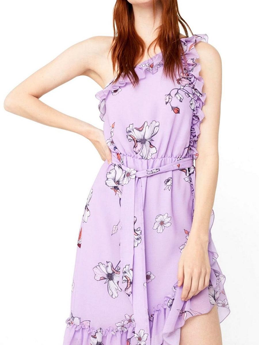Платье фиолетовое в цветочный принт | 5535244