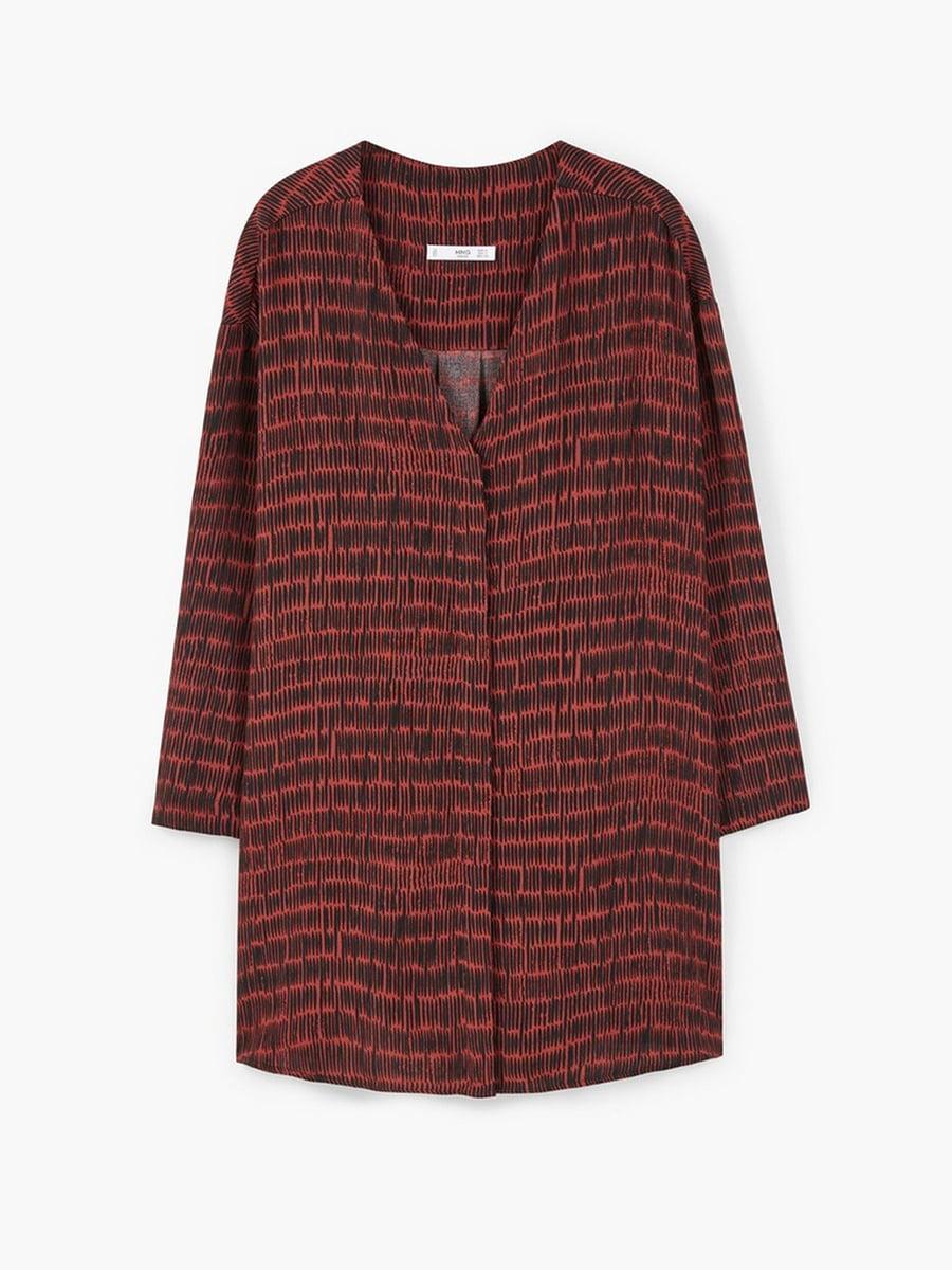 Платье коричневое с узором   5535253