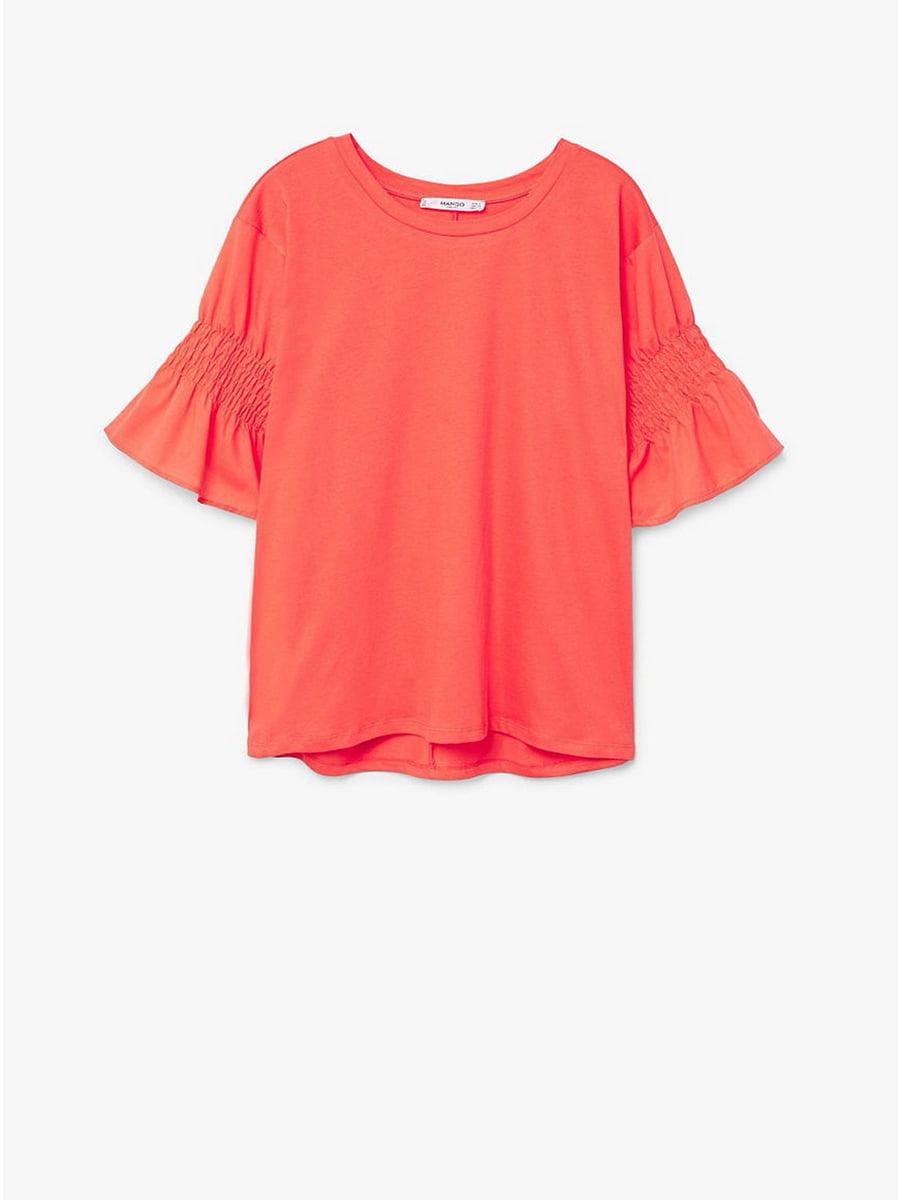 Блуза кораллового цвета | 5535281