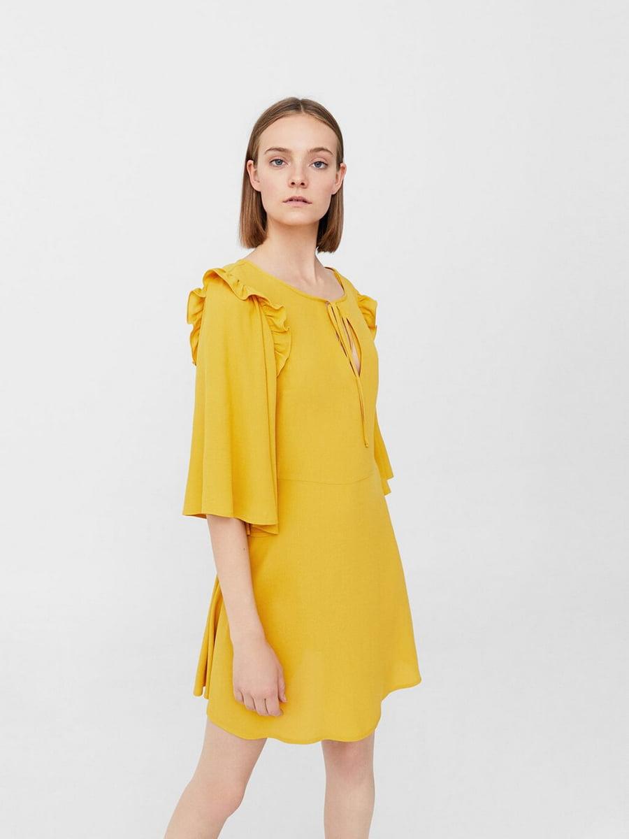 Платье горчичного цвета | 5535459
