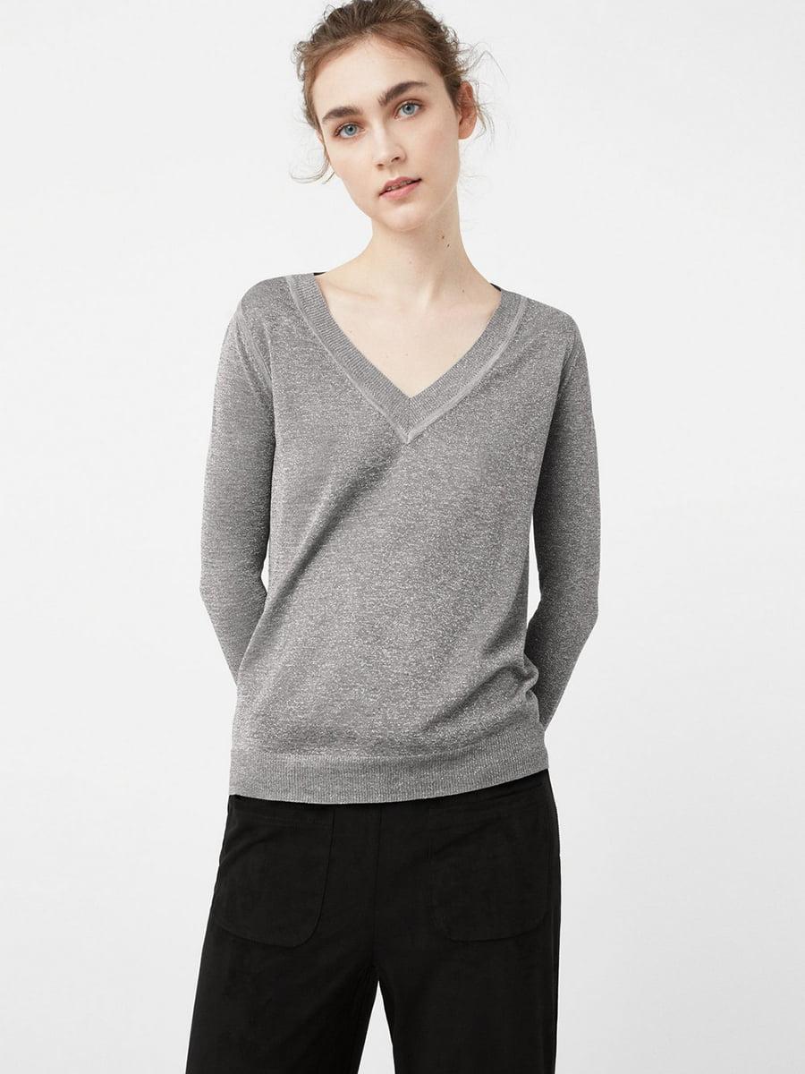 Пуловер серый | 5535517