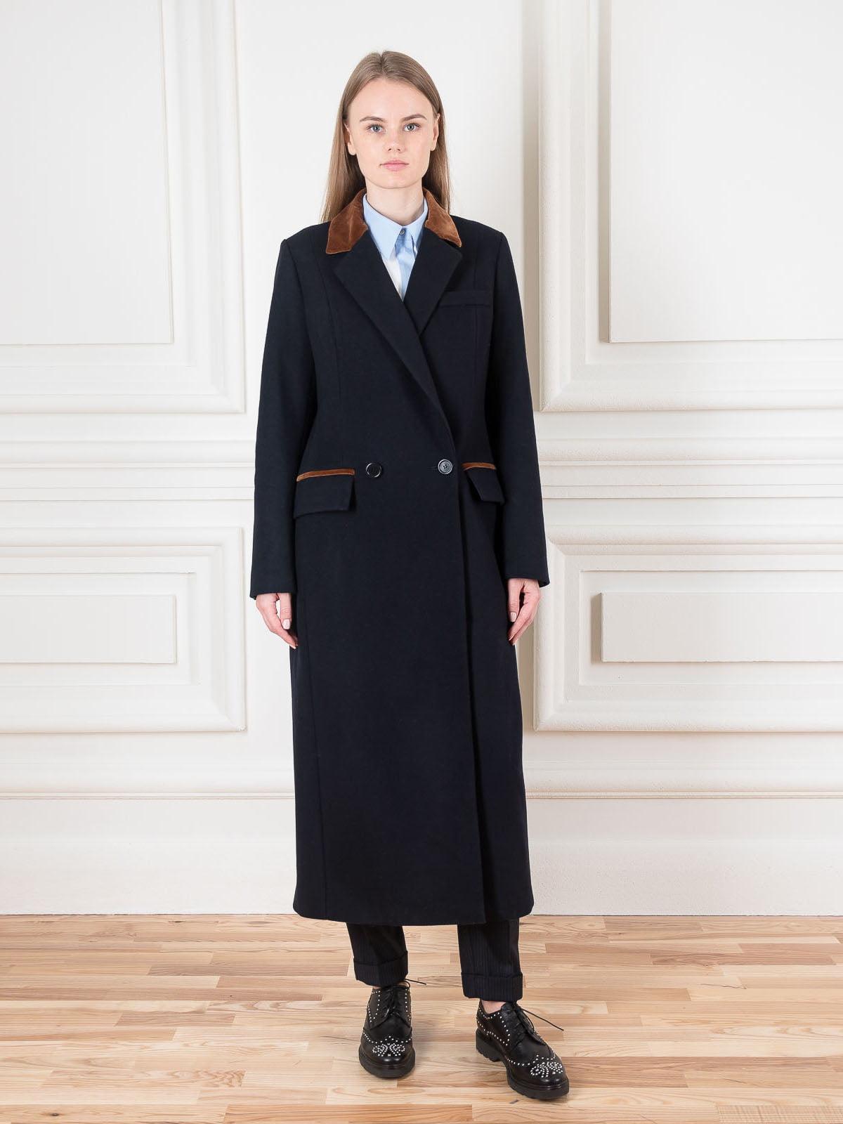 Пальто темно-синє | 5522011