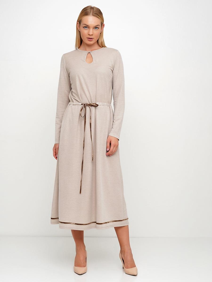 Платье бежевое | 5536948