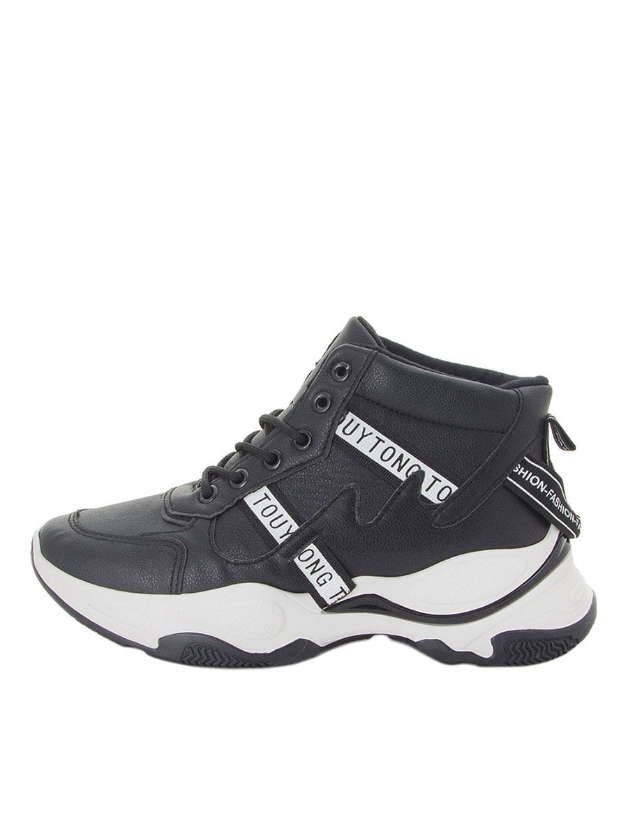 Ботинки черные с логотипом | 5537136