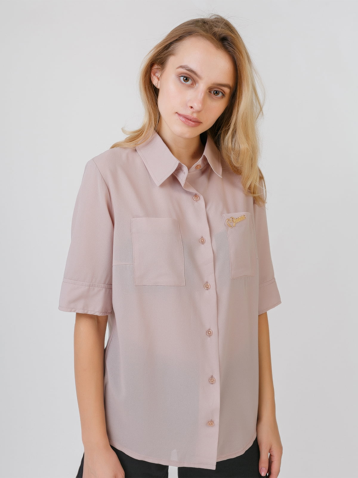 Рубашка бежевая | 5526418