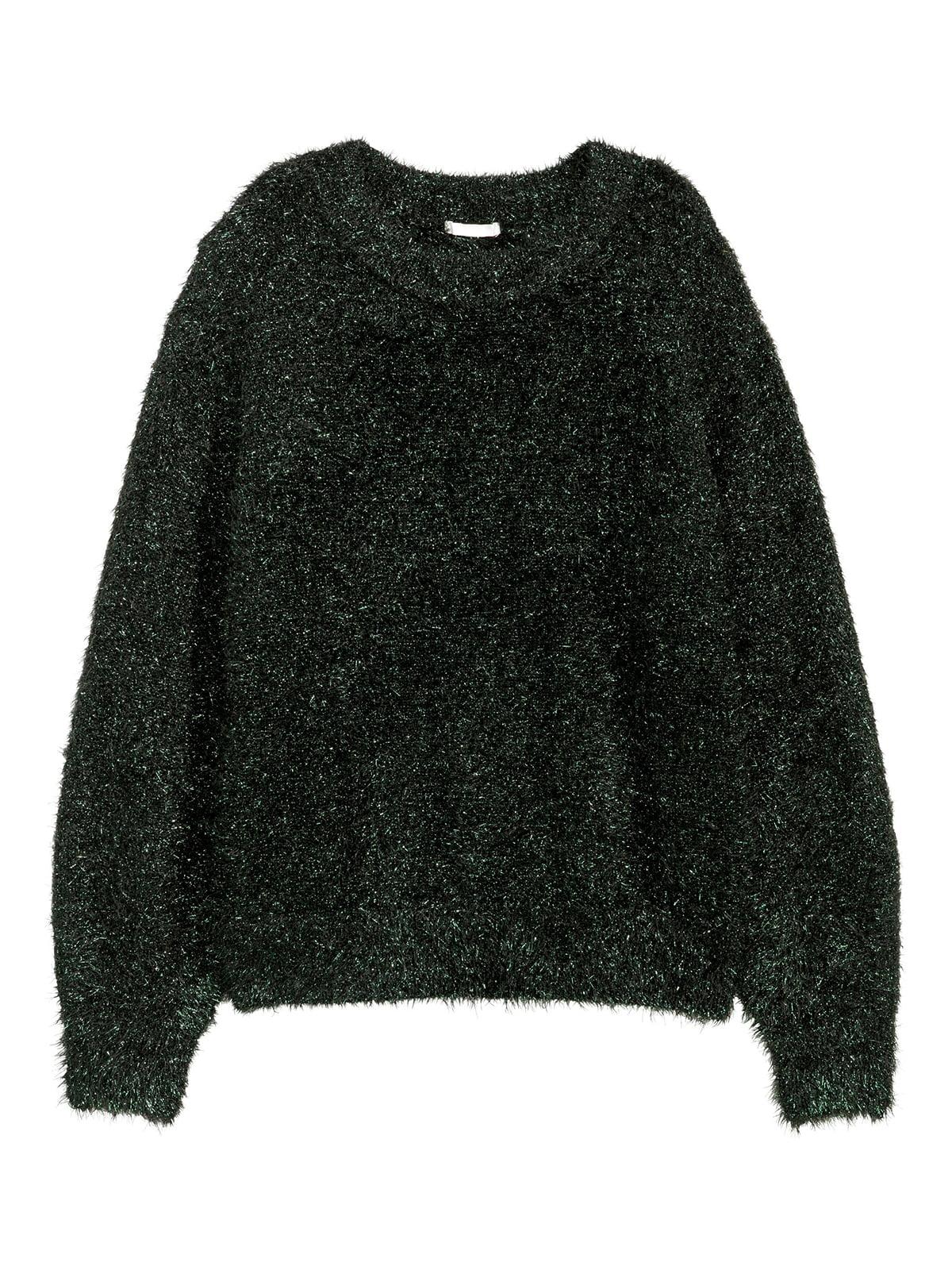 Джемпер темно-зеленый с блестками | 5539436
