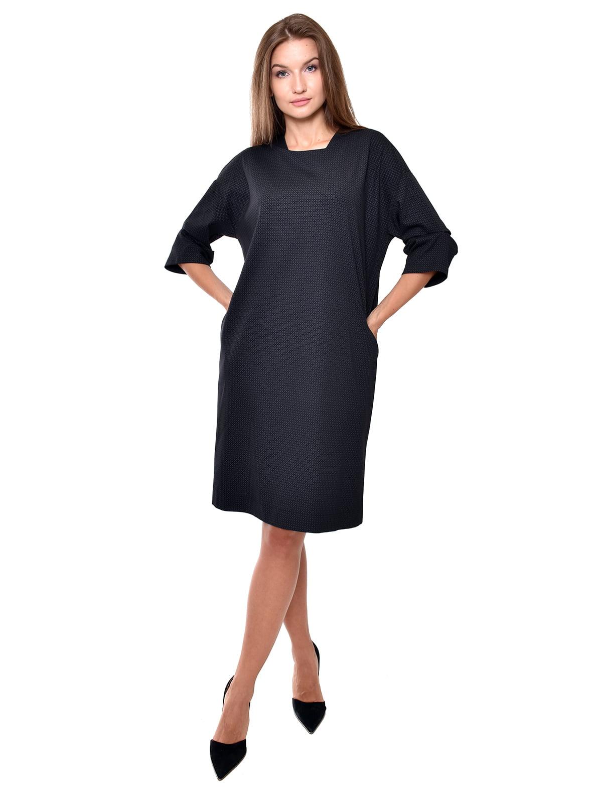 Сукня темно-синя у орнамент   5539539