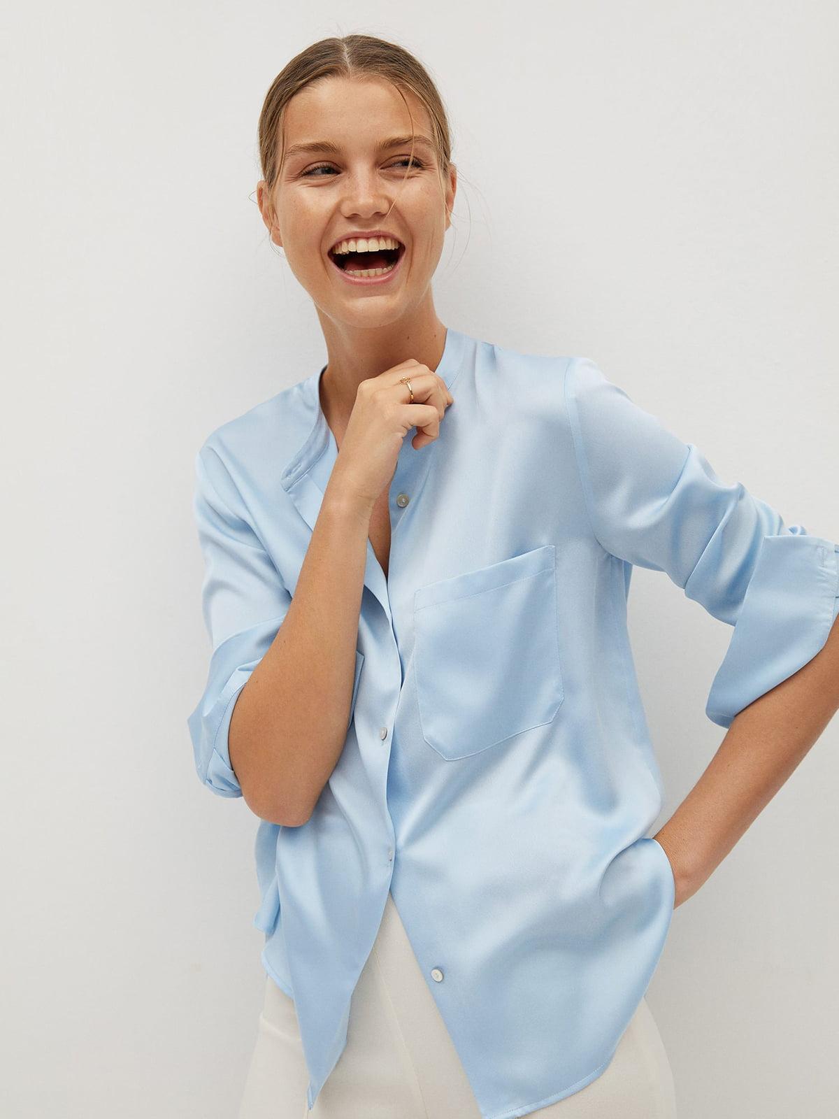 Рубашка голубая   5540171