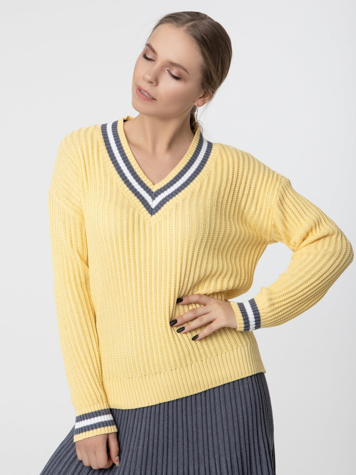 Пуловер жовтий | 5541563