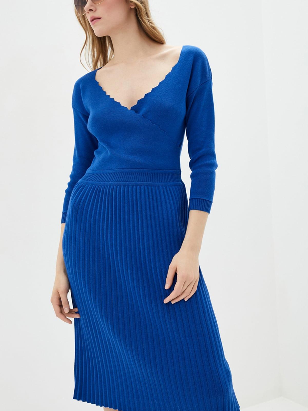 Сукня кольору ультрамарин | 5541576
