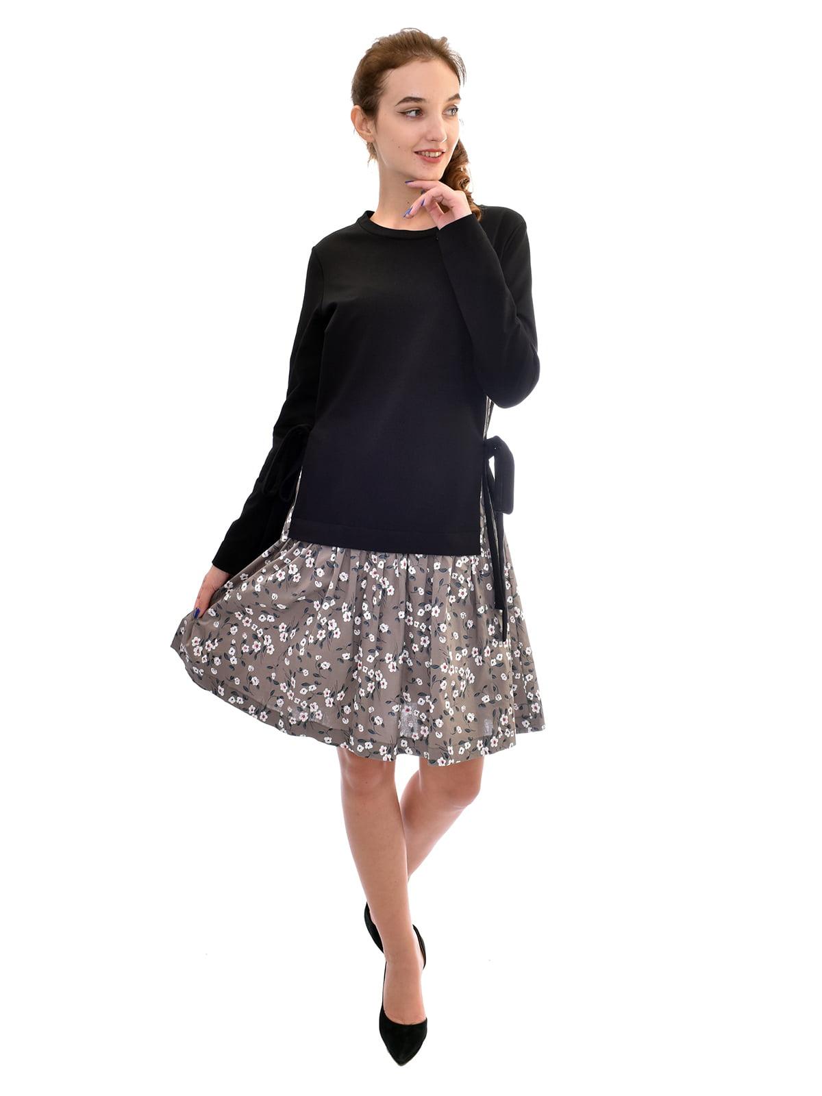 Платье комбинированной расцветки   5542310