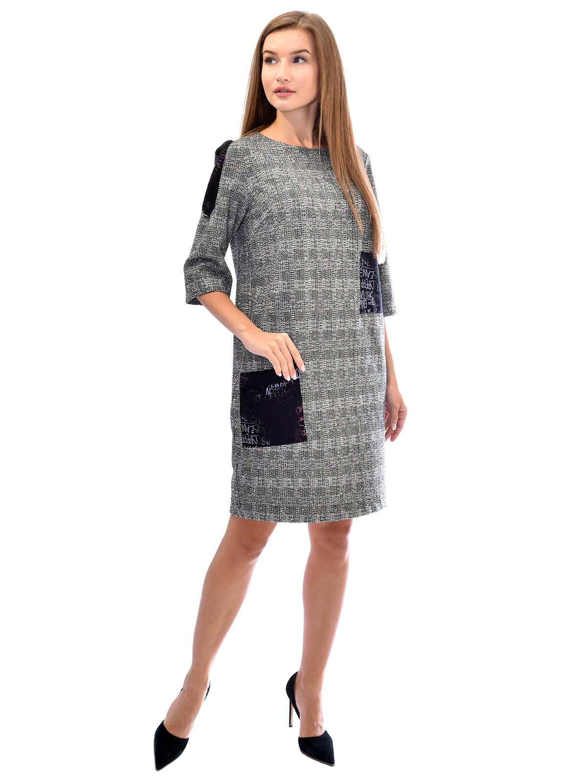 Платье серое в клетку | 5542312