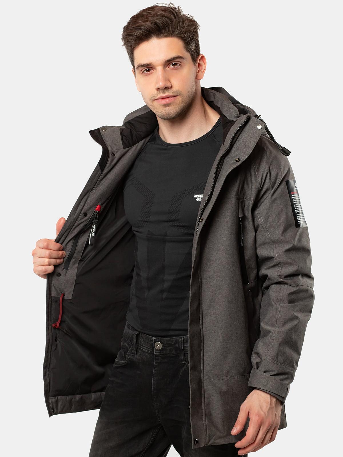 Куртка темно-сіра | 5546859