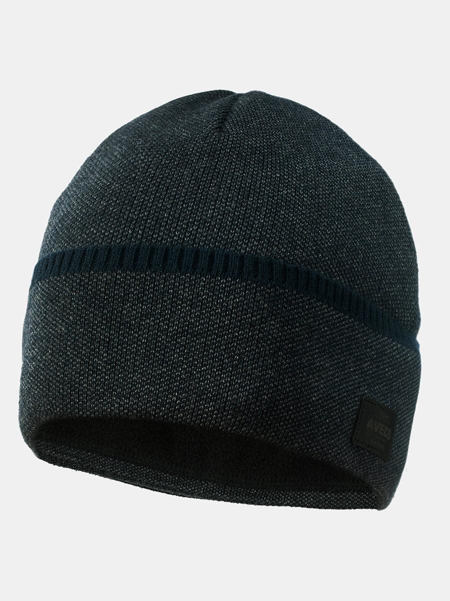 Шапка темно-сіра з синім | 5546887
