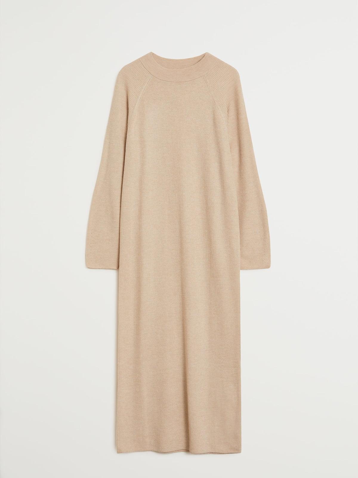 Платье бежевое   5546984