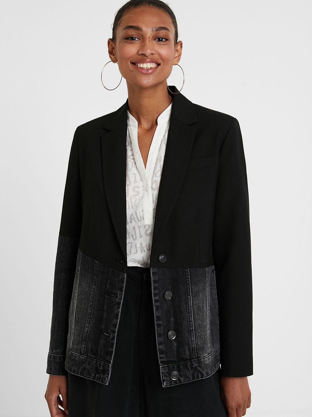 Жакет черно-серый   5547217